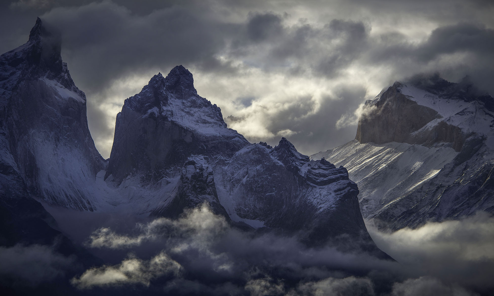 Patagonia Mountains Zoomed In
