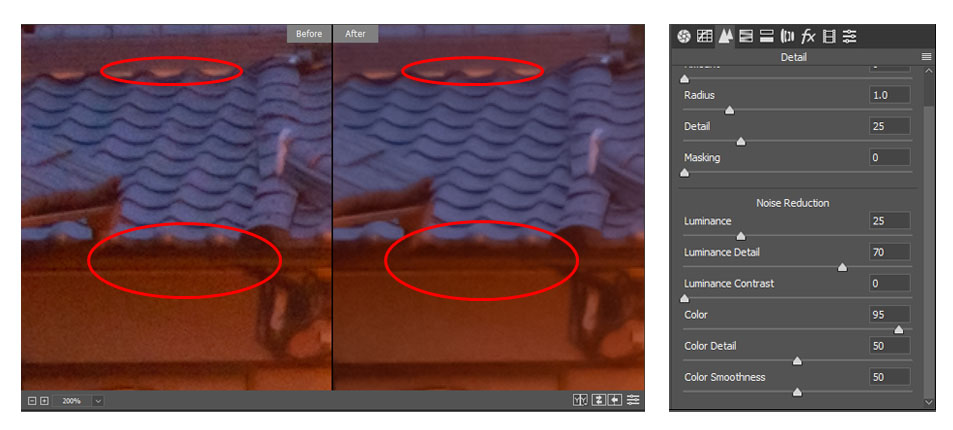 Color Slider Comparison Zoomed in