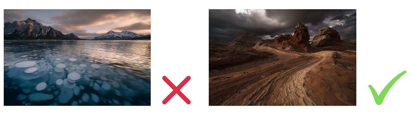 Rule of Odds. Advance landscape photography example