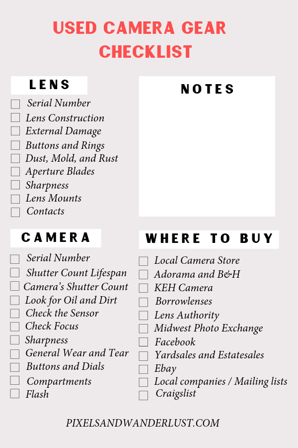 The Ultimate Guide to Buying Used Camera Gear - Pixels and