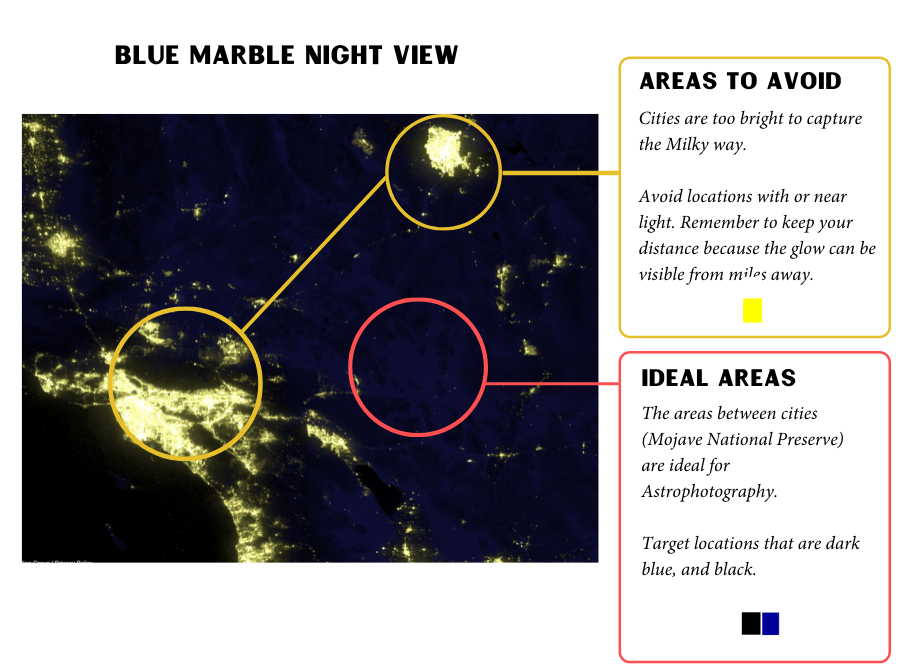 Blue Marble Map Night View