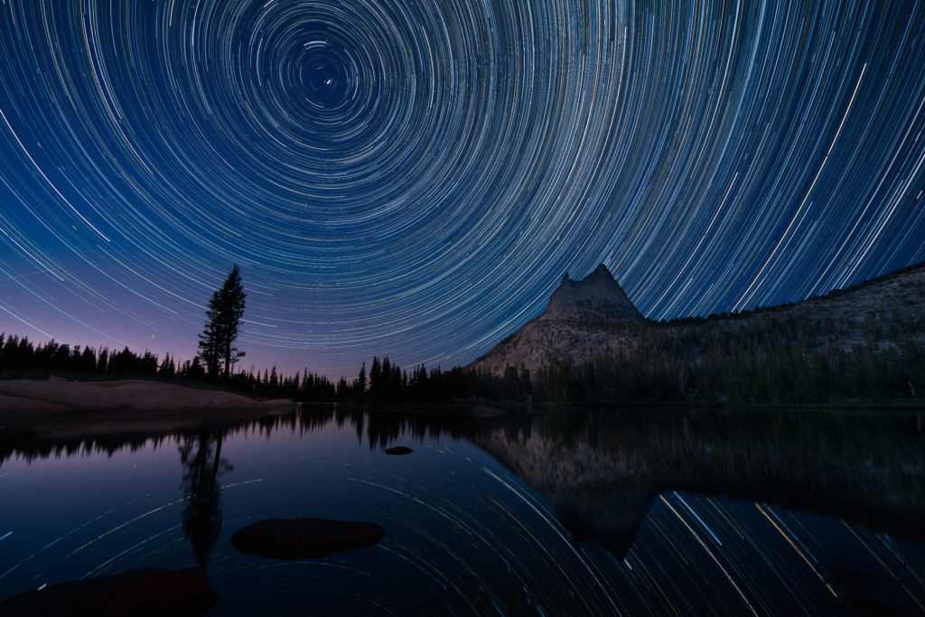 Star Trails Over Cathedral Lake, Yosemite