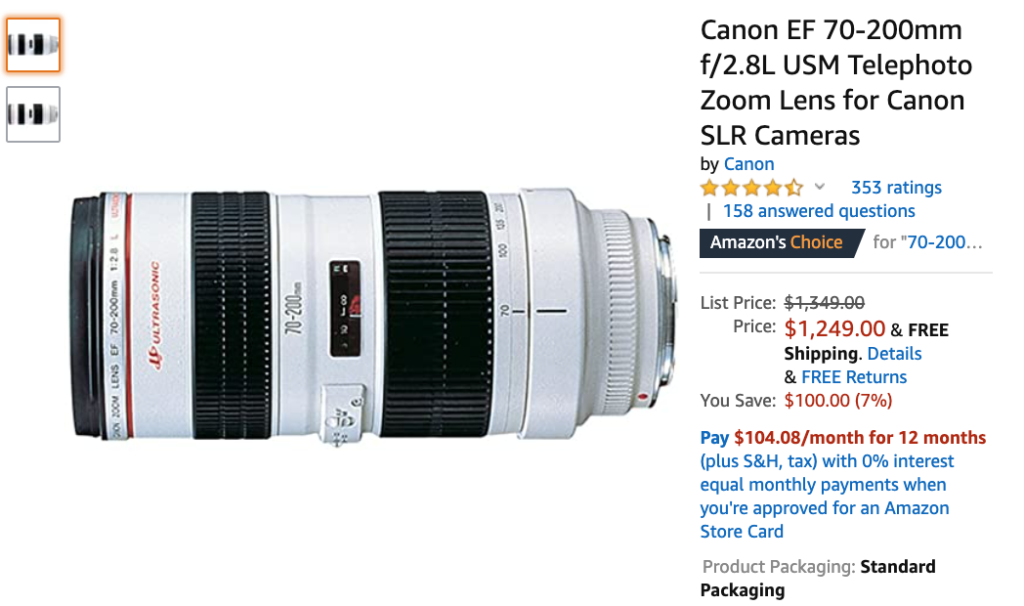 Zoom Lens Example