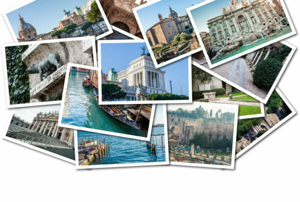 photo collage of travel